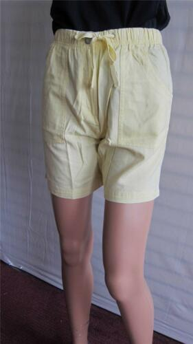 New Simply Be Ladies COTTON SHORTS LENGTH 6 INCHES Size 12 14 UK Lemon