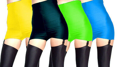 High Waisted Spandex Suspender Shorts Hot Pants Xs S M L Xl Xxl Xxxl