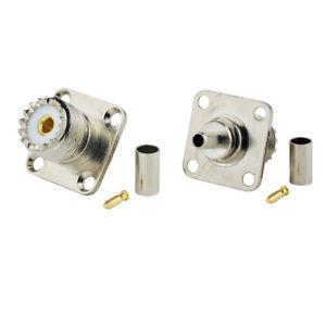 2-pack-UHF-SO-239-Female-Flange-Mount-RG58-LMR-195-RG400-RG142-Cable-Connector