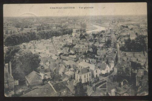 POSTCARD CHAU GONTIER FRANCE TOWN BIRD'S EYE AERIAL VIEW 1910'S