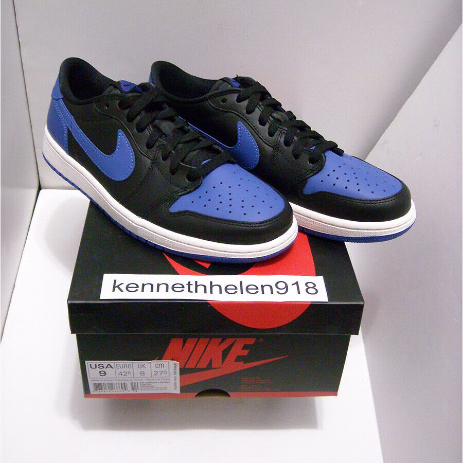 NEW 2015 NIKE AIR JORDAN 1 RETRO LOW OG ROYAL 705329-004 MENS SIZE 9