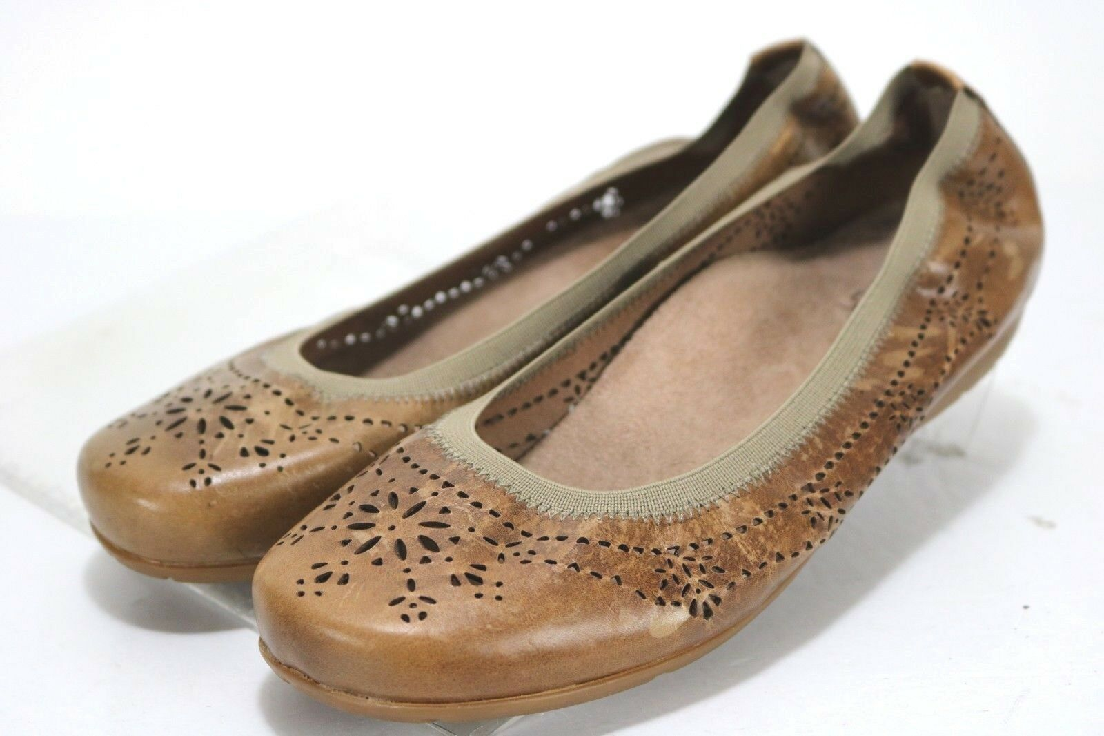 Abeo Tamara Neutral Ballet Flat Loafers  90 Womens shoes Size 9.5 N Narrow Brown