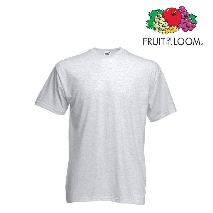 Lot de 10 T-shirts homme manches courtes FRUIT OF THE LOOM  COULEUR GRIS CLAIR