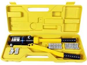 16 Ton Hydraulic Wire Battery Cable Lug Terminal Crimper