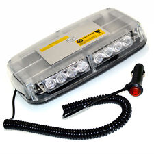 12v - 24v 300MM / 12' LED FLASHING STROBE RECOVERY LIGHTBAR TRUCK AMBER MAGNETIC