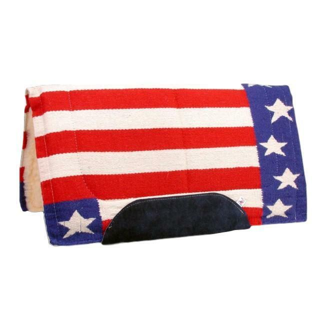 Tough1 estrellas & Stripes US Flag Saddle Blanket  rosso, bianca, blu  34 x 36