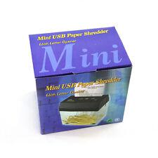 Mini USB Electric Powered Paper Shredder Cutter Letter Opener Shred Paper Tool