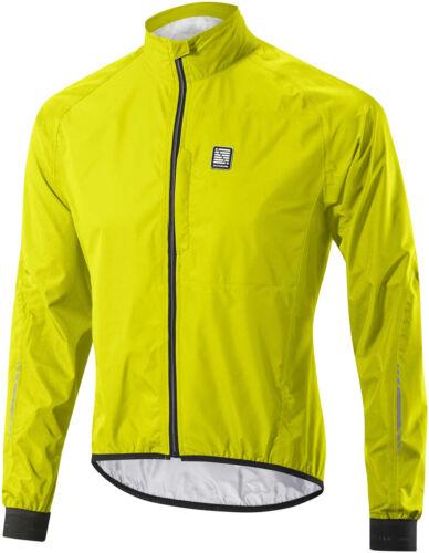 Altura Peloton Waterproof Mens Cycling Jacket Yellow High Visibility Lightweight
