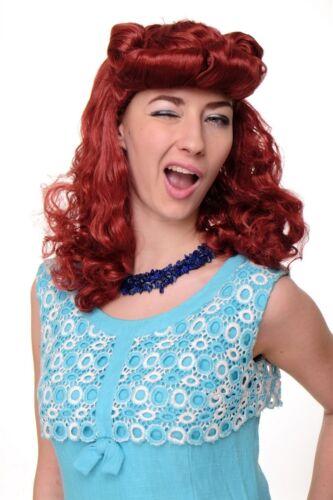 Wig Carnival Fancy Dress Ladies Scarlett Rockabilly 1950/'s Red Great Wig018-p135