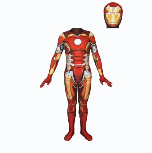 Iron Man Cosplay Costume Tony Stark Avengers Superhero Zentai Suit Bodysuit Suit