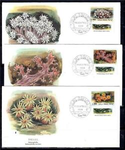 ISRAEL-STAMPS-1986-RED-SEA-CORALS-SRT-OF-3-AUDUBON-FDC