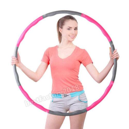 Fitness Hula Hoop Reifen Hüftmassage Schaumstoff Gymnastik 8-teilig 1,0kg Ø98cm