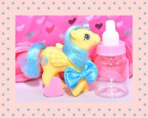 My-Little-Pony-MLP-G1-Vtg-First-Tooth-Baby-Bouncy-Beach-Ball-Pegasus-Yellow