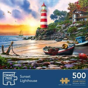 Sunset Light 500 Piece Jigsaw Puzzle, Toys & Games, Brand New