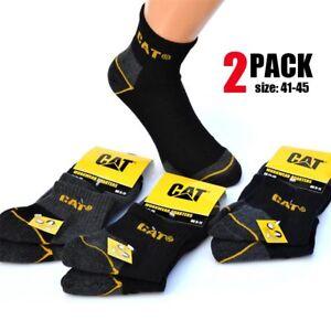 Set-2-Paia-Calzini-Uomo-In-Cotone-41-45-Da-Lavoro-Rinforzati-Con-Imbottitura-CAT