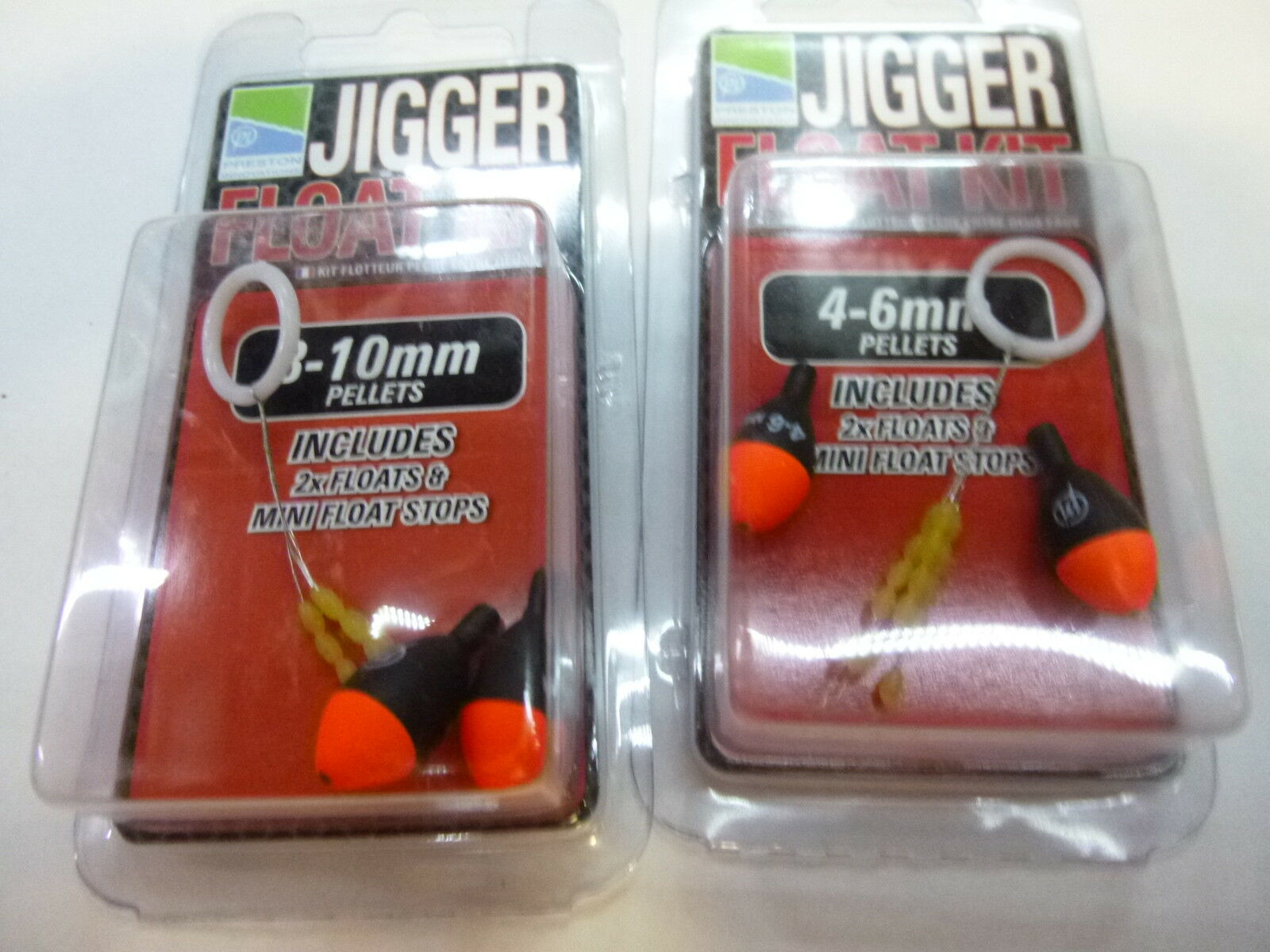 Preston Jigger Float Kit  pole floats x2 small  large  great selection & quick delivery