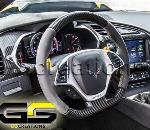 Details about C7 Stingray Z06 Grand Sport ZR1 Corvette Steering Wheel Suede  Carbon Yellow 7-SP