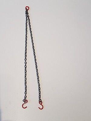 2er Kettengehänge Krankette Ketten 6cm 1:50 oder 1:32 mit offenen Haken