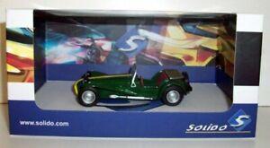 Solido 1/43 escala S4400500 Lotus Super Seven A Rayas Verde/Amarillo