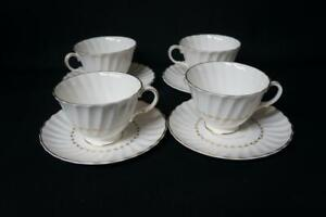 4-Four-Royal-Doulton-Adrian-H4816-Coffee-Cups-and-Saucers
