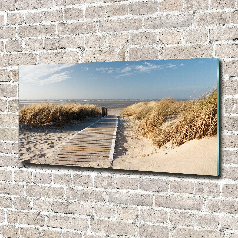 Acrylglas-Bild Wandbilder Druck 140x70 Deko Landschaften Weg am Strand