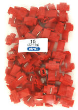 50 PACK 22-18 GAUGE RED QUICK SPLICE WIRE CABLE CONNECTOR TERMINAL - 100% COPPER