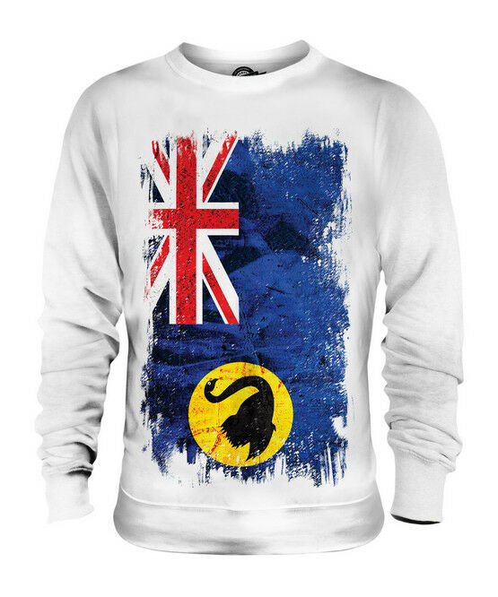 WESTERN AUSTRALIA GRUNGE FLAG UNISEX SWEATER TOP AUSTRALIAN SHIRT JERSEY GIFT