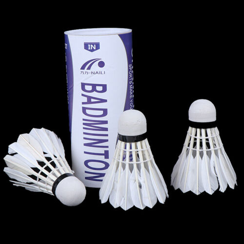3St Badminton Natural spring ball with real feathers White spring ball  NP