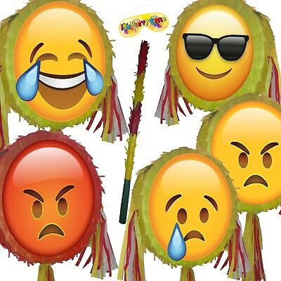 Cool Angry Emoji Pinata smash Birthday Party smileys smiley face moji Red  Hot UK | eBay