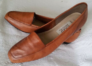 Enzo Angiolini Leather Women s Shoes Flats 8 M Camel Leather Soles ... 90168bda5d