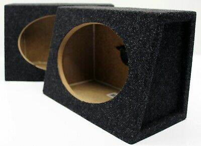 "2  Atrend 6X9PR 6/"" x 9/"" Speaker Boxes  Angled Enclosures MDF Constructed  New"