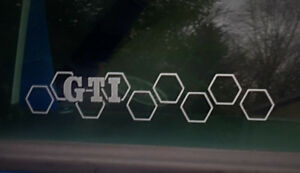 Aufkleber-GTI-Waben-Golf-4-5-6-7-Auto-Style-Sticker-Tuning-JDM-Gravur-vag-Turbo