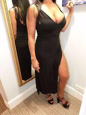 Ladies long black evening party dress, size 8-12, BNWOT.