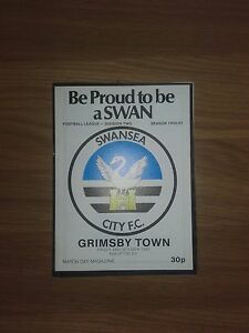 SWANSEA CITY V GRIMSBY TOWN 24TH OCTOBER 1980 DIVISION TWO SWANS PROMOTED - Swansea, United Kingdom - SWANSEA CITY V GRIMSBY TOWN 24TH OCTOBER 1980 DIVISION TWO SWANS PROMOTED - Swansea, United Kingdom