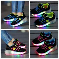 Led Shoes Kids Girls Boys Child Light Up Shoes Skates Shoes Skate Uk Sizes