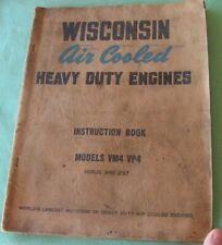 Wisconsin Air Cooled Vm4 Vp4 Instruction Parts Manual Baler Chopper 4 Cyl Engine