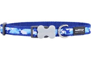 Red-Dingo-Camouflage-Design-Collar-BLUE-for-Dog-amp-Puppy-Ex-Small-Large
