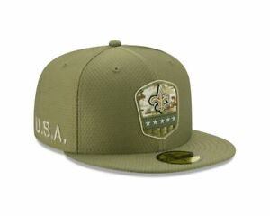 New-Era-NFL-NEW-ORLEANS-SAINTS-Salute-to-Service-2019-Sideline-59FIFTY-Game-Cap