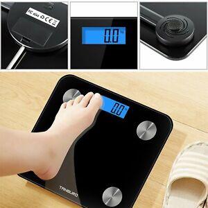 Personenwaage LCD Waage Körperwaage Digital Gewichtswaage Badezimmer 180kg DHL