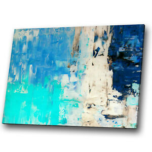 AB1515 Retro Brown Teal Cool Modern Abstract Framed Wall Art Large Picture Print