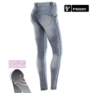 Dettagli su Freddy WR.UP Jeans Skinny SLAVATO WRUP1RJ14E J19Y in denim bleached chiaro NEW