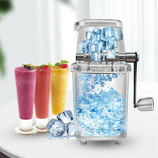 Portable Manual Ice Crusher Shaved Ice Machine Manual Hand Crank Operate Kitchen