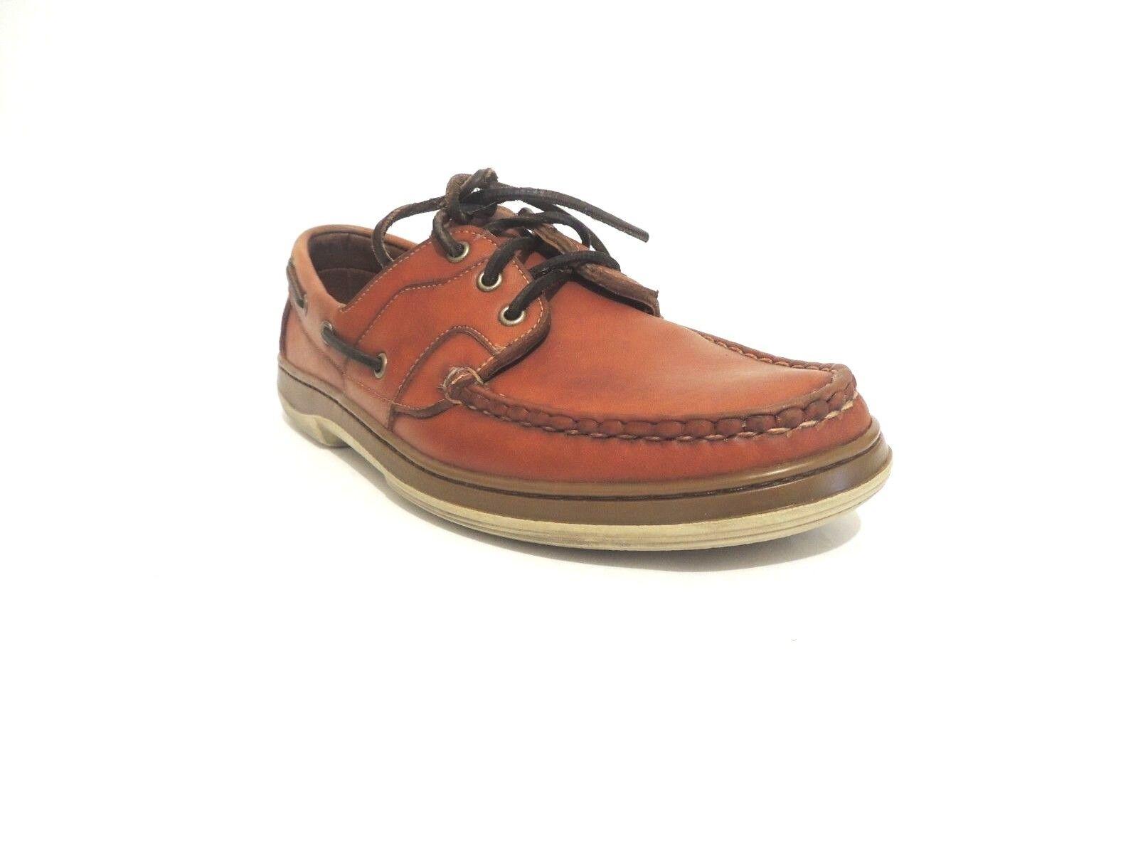38c7e266ae79 Allen Edmonds EASTPORT Mens Mens Mens Boat Shoes 10 B Brown ee7afa ...