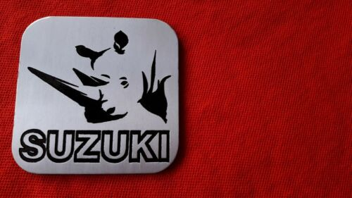 suzuki aluminium rhino PLAQUE emblem jimny grand vitara sierra samurai