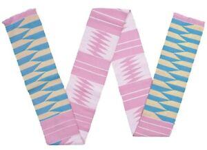 Kente-scarf-sash-stole-Ghana-African-Kumasi-cloth-handwoven-Ashanti-fabric-new