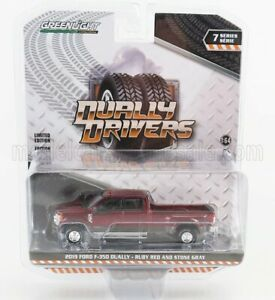 GREENLIGHT 1/64 FORD USA | F-350 DOUBLE CABINE PICK-UP 2019 | RED SILVER