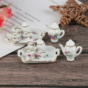 8X-1-12-Dollhouse-Miniature-Porcelain-Tea-Cup-set-Dollhouse-Kitchen-TablewarDDAU