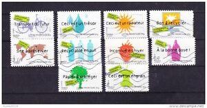 FRANCE-2008-DEVELOPPEMENT-DURABLE-SERIE-COMPLETE-DE-10-TIMBRES-OBLITERE
