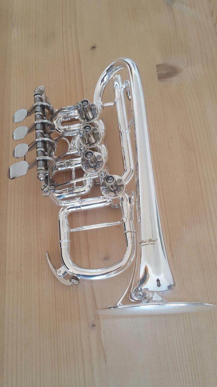 High b a, Piccolo Trumpet, 4-Zylinder-Ventile, mit Quart-Ventil