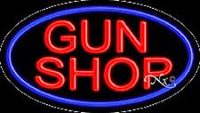 "BRAND NEW ""GUN SHOP"" 30x17 OVAL FLASHING REAL NEON SIGN w/CUSTOM OPTIONS 14219"